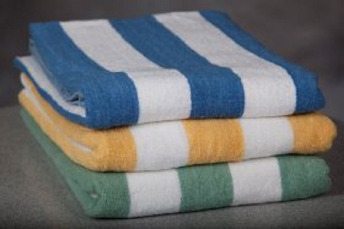 Hotel Pool Towels Cabana Striped Pool Towels By Ganesh Mills