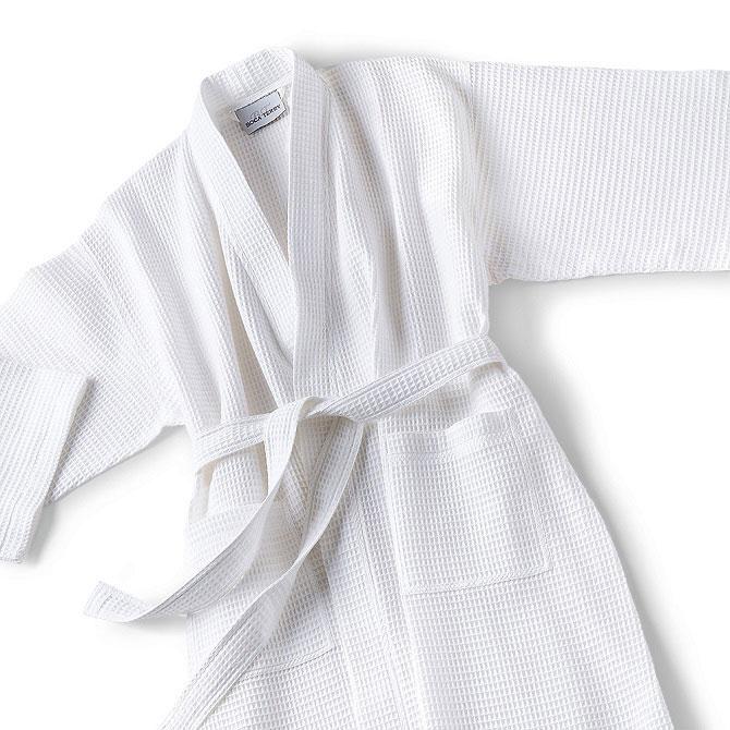 Hotel Bath Robes - Waffle Kimono Bath Robes by Boca Terry