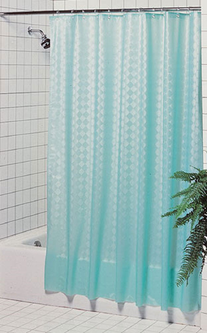 Hotel Shower Curtains - Seville 8 gauge Diamond Embossed Vinyl ...