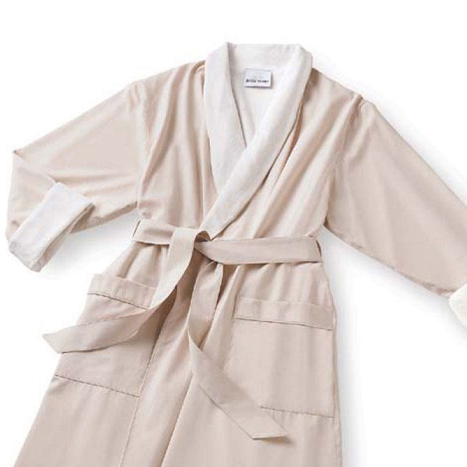 9a29957133 View Larger. Classic Microfiber Shawl Colar Bathrobes are lined with French  terry knit for luxurious ...