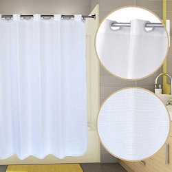 Pre Hooked Waffle View Shower Curtain